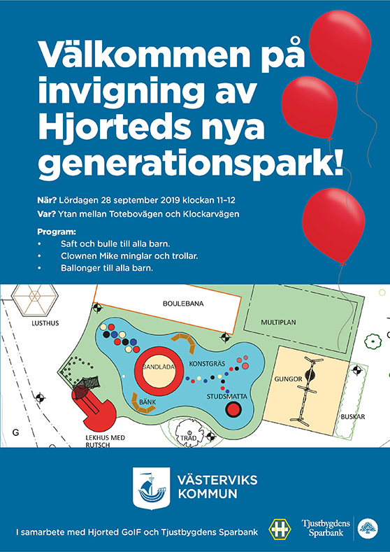 affisch invigning generationspark Hjorted
